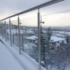 Het openlucht Ontwerp van het Traliewerk van het Glas van het Roestvrij staal van het Balkon