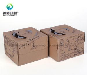 Impressão de papel ondulado personalizados bolo de cores na caixa de embalagem