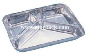 Contenitore di alluminio di alimento per uso asportabile