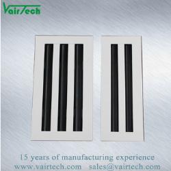 Diffusore lineare della scanalatura dell'aria registrabile dell'alluminio di HVAC di formato del cliente