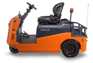 Nieuw Ce 6 Ton zitten-op de Elektrische Slepende Tractor die van het Type met 6 Ton Kracht trekken