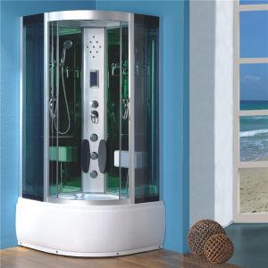 Baño redondo Aluminio cabina de ducha de cristal transparente