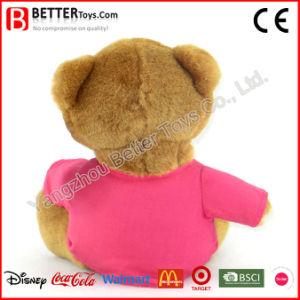 Giocattoli molli dell'orso dell'orsacchiotto della maglietta dell'animale farcito della peluche per i capretti/bambini