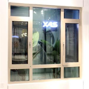 Dernière conception double Le verre trempé aluminium Fenêtre à battant
