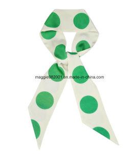Vert frais d impression Big Wave spot dark coton rayée Sens vertical Foulard  en Soie lisse 2659f7061fd
