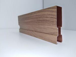 2019 China Wholesale nuevo deflector de techo de madera aluminio grano