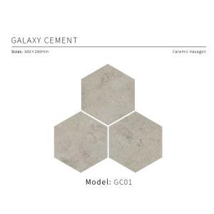 Cement van de melkweg verglaasde Hexagon Tegel 300X260mm van het Porselein (GC 01)