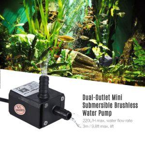 DC 12V 220l/h de débit contrôle de la vitesse de l'eau alimentant les pompes à eau submersibles Brushless amphibie