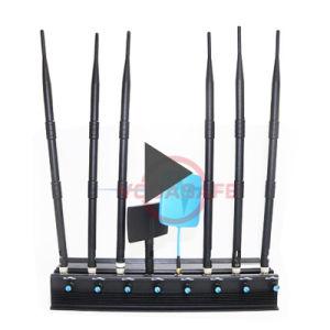 Energien-justierbarer mobiler Signal-Hemmer, Signal-Blocker, beweglicher stationärer justierbarer 8 Band-Hemmer, 2g/3G/4G Hemmer des Mobiltelefon-+GPS+Lojack mit Batterie