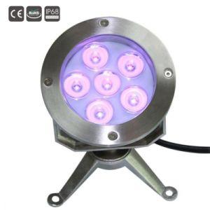 IP de 6X3W68 3in1 RGB LED Luz subacuática