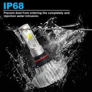 新しいFree Sample Wholesale IP67 9006 H7 H4 12V 360 Degree Fanless Auto Car Light H13 LED Headlight Bulbs
