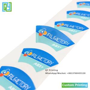 Custom печатная фабрика логотип компании ПВХ клейкой этикетки