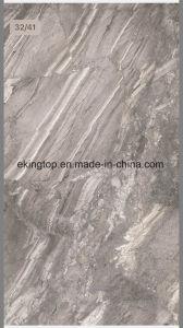De lichtgrijze Opgepoetste Verglaasde Tegel van het Porselein voor Decoratie 600X1200mm van de Muur en van de Vloer