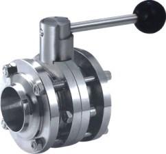L'acciaio inossidabile del commestibile SS304 SS316L premuto conclude la valvola a sfera sanitaria