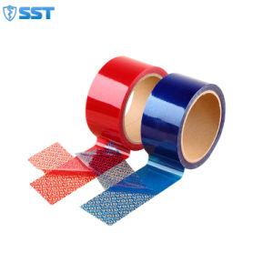 Diseño de protección de sellado de seguridad de la cinta para embalaje de cartón