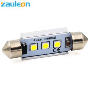 Canbus運転免許証の版ライトのための誤りが無い41mm 42mm LEDの花飾りライト