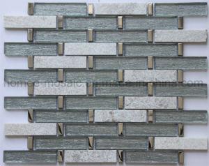 Fio Electroplate Fractius combinação de vidro cristal mosaico mosaico de pedra para a parede de cozinha