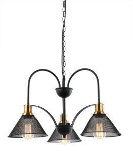 Venta caliente Vintage clásico araña negra de hierro