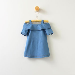 한국 유행 여자 아기 데님 복장 여름 형식 경례군악 기온변화도 색깔 청바지 공상 복장
