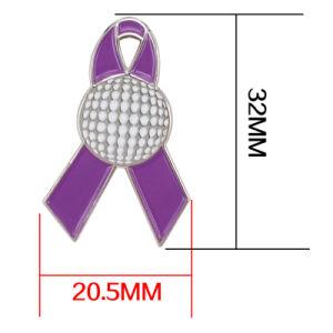 卸し売り方法付着力のバッジ紫色カラーのメタル・ベース安全ピン