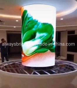 Fácil instalação interior criativa de publicidade do cilindro levou a Tela
