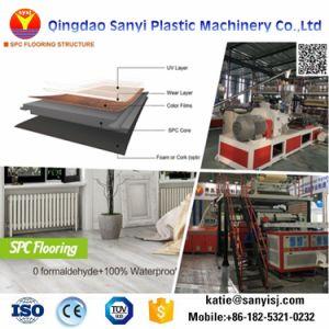 Verrouillage en plastique de vinyle PVC antidérapante Spc Feuille de revêtement de sol/Tile/planche de machine de l'extrudeuse