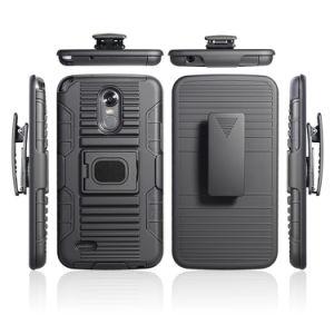 LG Stylo 3、LG Stylo 3のためのコンボのホルスターの保護装置のケースのための電話箱