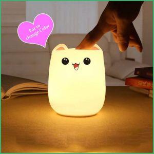 Het Kleurrijke Licht van uitstekende kwaliteit van de Nacht Customizedled voor Baby met Zacht Silicone Shell