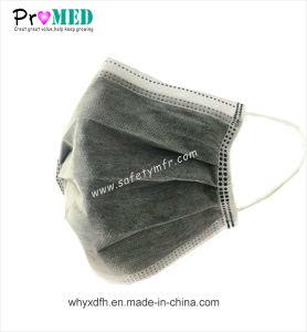 ISO13485によって証明される黒く使い捨て可能なNonwoven/PP実行中カーボンマスク