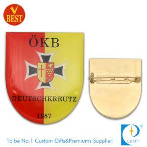 金張りの会社のロゴのための会社によってカスタマイズされるPinのバッジ