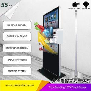 Écran tactile LCD 55inch Kiosque verticale du moniteur d'affichage panneau interactif de la signalisation