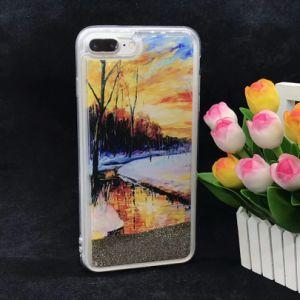 Patrón personalizado Diseño personalizado de líquido Bling Glitter caso Teléfono