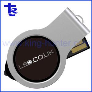 Логотип пластика поворотный диск USB с индикатором