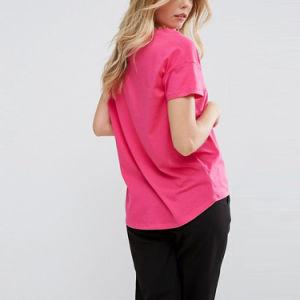 단단한 국자 목 여자 t-셔츠