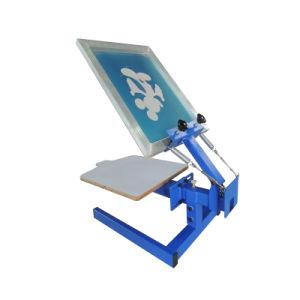 Stampatrice manuale dello schermo della stampante dello schermo di Digitahi della maglietta della Tabella della stazione di colore 1 di Ns101-M 1