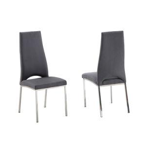 Edelstahl-Möbel gepolsterte Gaststätte, die Stuhl speist