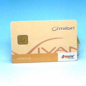 Мини-Контакт Чип IC SLE5542 офсетной печати CMYK пластиковые карточки для безналичной оплаты