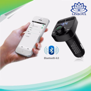 Auto transmisor FM Bluetooth Car Kit Manos Libres de cancelación de ruido con doble USB Cargador de coche