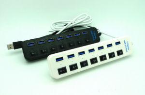 USB 3.0, 7 портов с помощью пресса ступицу переключатель вкл./выкл.