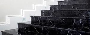 De opgepoetste Tegel van de Steen van Nero Marquina Zwarte Marmeren voor Muur, het Vloeren