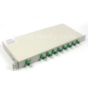 Divisore ottico del PLC del supporto di cremagliera della fibra di telecomunicazione di Gpon di 19 pollici