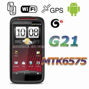 Androïde 4.0 MTK6575 WCDMA G21 GPS Smartphone van WiFi van het Scherm van 4.6 Duim Capacitieve