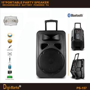 мощный портативный диктор Active DJ Tweeter Subwoofer вагонетки Karaoke 3000W