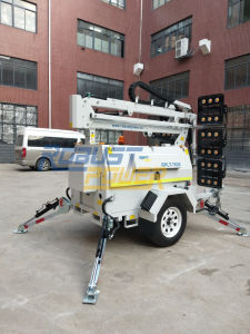6X480W LEDのフラッドライトの携帯用軽いタワーのディーゼル発電機