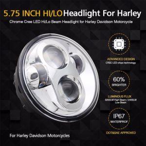 こんにちはLoのビーム円形の極度の明るい40W 5.75インチLEDのオートバイのヘッドライト