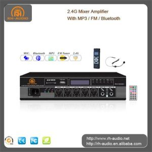 Rh-Audio 2.4G amplificador mezclador con MP3/FM/Bluetooth
