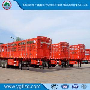 De Semi Aanhangwagen van de Staak van de Omheining van het Vervoer van dieren van de Fabriek van China met 3/4 As