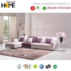 Nova chegada moderno mobiliário elegante sala de estar sofá de tecido simples (HC-R570)
