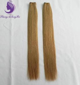 #27 louro claro Virgem Remy de cabelo humano trama Brasileira