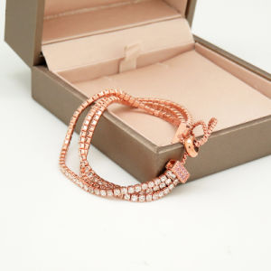 Roze nam de Gouden Geplateerde Regelbare Armband van de Kleur voor de Vrouwen van het Meisje toe